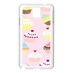 Cupcakes Wallpaper Paper Background Samsung Galaxy Note 3 N9005 Case (white)