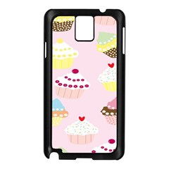 Cupcakes Wallpaper Paper Background Samsung Galaxy Note 3 N9005 Case (black)