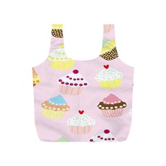 Cupcakes Wallpaper Paper Background Full Print Recycle Bags (s)