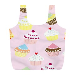 Cupcakes Wallpaper Paper Background Full Print Recycle Bags (l)