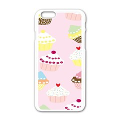 Cupcakes Wallpaper Paper Background Apple Iphone 6/6s White Enamel Case