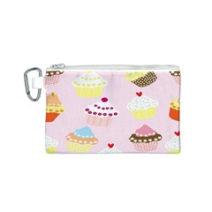 Cupcakes Wallpaper Paper Background Canvas Cosmetic Bag (s)