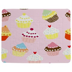 Cupcakes Wallpaper Paper Background Jigsaw Puzzle Photo Stand (rectangular)
