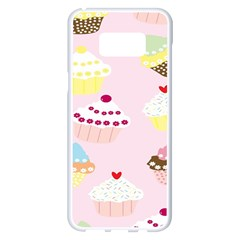 Cupcakes Wallpaper Paper Background Samsung Galaxy S8 Plus White Seamless Case