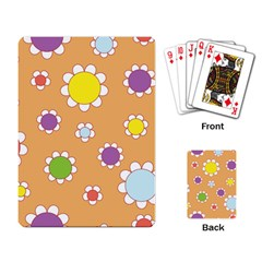 Floral Flowers Retro 1960s 60s Playing Card
