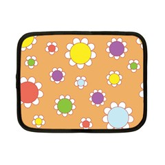 Floral Flowers Retro 1960s 60s Netbook Case (small)