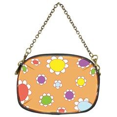 Floral Flowers Retro 1960s 60s Chain Purses (one Side)