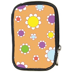 Floral Flowers Retro 1960s 60s Compact Camera Cases