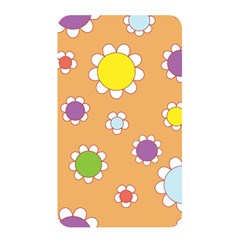 Floral Flowers Retro 1960s 60s Memory Card Reader