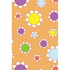 Floral Flowers Retro 1960s 60s 5 5  X 8 5  Notebooks