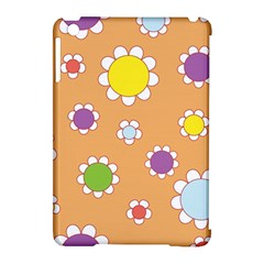 Floral Flowers Retro 1960s 60s Apple Ipad Mini Hardshell Case (compatible With Smart Cover)