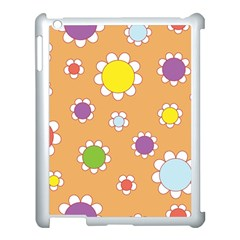Floral Flowers Retro 1960s 60s Apple Ipad 3/4 Case (white)