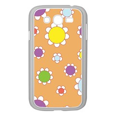 Floral Flowers Retro 1960s 60s Samsung Galaxy Grand Duos I9082 Case (white)