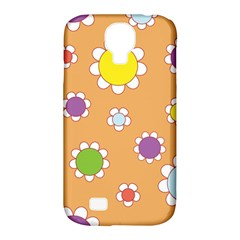 Floral Flowers Retro 1960s 60s Samsung Galaxy S4 Classic Hardshell Case (pc+silicone)