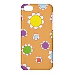 Floral Flowers Retro 1960s 60s Apple Iphone 5c Hardshell Case
