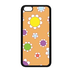 Floral Flowers Retro 1960s 60s Apple Iphone 5c Seamless Case (black)