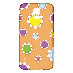 Floral Flowers Retro 1960s 60s Samsung Galaxy S5 Back Case (white)