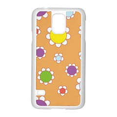 Floral Flowers Retro 1960s 60s Samsung Galaxy S5 Case (white)