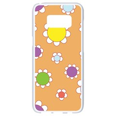 Floral Flowers Retro 1960s 60s Samsung Galaxy S8 White Seamless Case