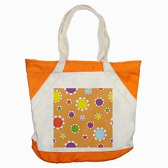 Floral Flowers Retro 1960s 60s Accent Tote Bag