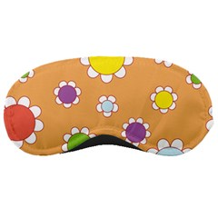 Floral Flowers Retro 1960s 60s Sleeping Masks