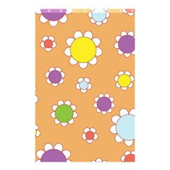 Floral Flowers Retro 1960s 60s Shower Curtain 48  X 72  (small)