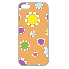 Floral Flowers Retro 1960s 60s Apple Seamless Iphone 5 Case (clear)