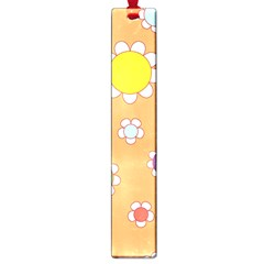 Floral Flowers Retro 1960s 60s Large Book Marks