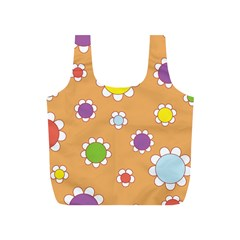 Floral Flowers Retro 1960s 60s Full Print Recycle Bags (s)