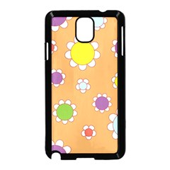 Floral Flowers Retro 1960s 60s Samsung Galaxy Note 3 Neo Hardshell Case (black)