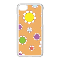 Floral Flowers Retro 1960s 60s Apple Iphone 8 Seamless Case (white)