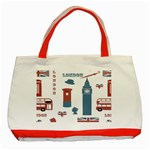 London Icons Symbols Landmark Classic Tote Bag (Red) Front