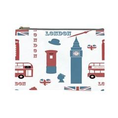 London Icons Symbols Landmark Cosmetic Bag (large)