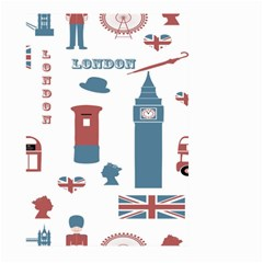 London Icons Symbols Landmark Large Garden Flag (two Sides)