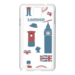 London Icons Symbols Landmark Samsung Galaxy Note 3 N9005 Case (white)