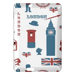 London Icons Symbols Landmark Kindle Fire Hdx Hardshell Case