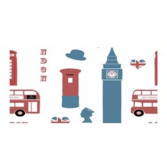 London Icons Symbols Landmark Satin Wrap