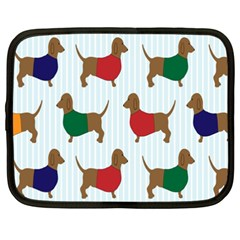 Dachshund Dog Cartoon Art Netbook Case (xxl)