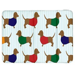 Dachshund Dog Cartoon Art Samsung Galaxy Tab 7  P1000 Flip Case