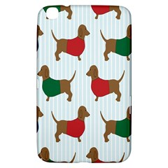 Dachshund Dog Cartoon Art Samsung Galaxy Tab 3 (8 ) T3100 Hardshell Case