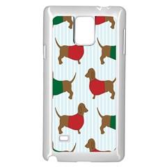 Dachshund Dog Cartoon Art Samsung Galaxy Note 4 Case (white)