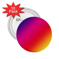 Spectrum Background Rainbow Color 2 25  Buttons (10 Pack)