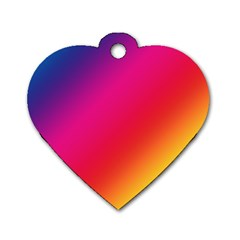 Spectrum Background Rainbow Color Dog Tag Heart (one Side)