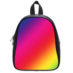 Spectrum Background Rainbow Color School Bag (small)