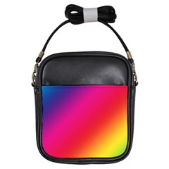 Spectrum Background Rainbow Color Girls Sling Bags