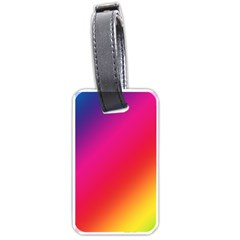 Spectrum Background Rainbow Color Luggage Tags (one Side)