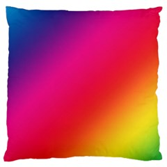 Spectrum Background Rainbow Color Large Cushion Case (two Sides)