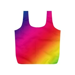 Spectrum Background Rainbow Color Full Print Recycle Bags (s)