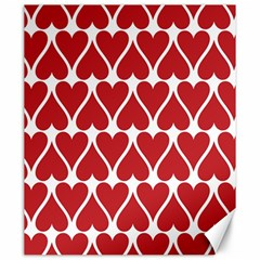 Hearts Pattern Seamless Red Love Canvas 20  X 24