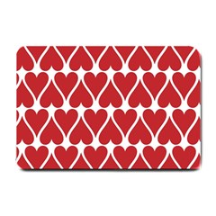 Hearts Pattern Seamless Red Love Small Doormat